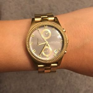 Marc by Marc Jacobs Gold Watch with Grey Dial